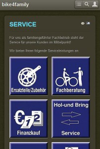 Website mit Mobile Template