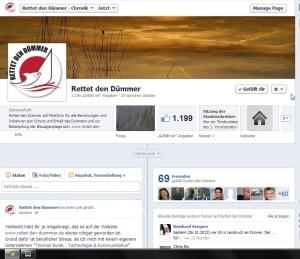 Facebook-Fanpage -Rettet den Dümmer