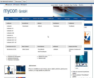 mycon GmbH mit MegaFlyOut Navigation