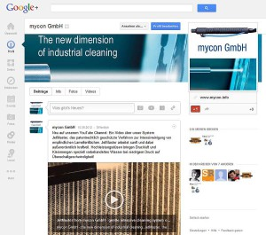 mycon GmbH – Google+  Unternehmensseite
