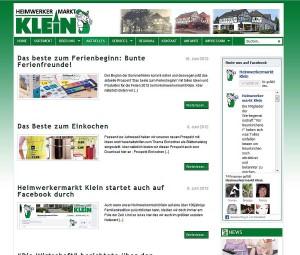Heimwerkermarkt Klein  Newsbereich