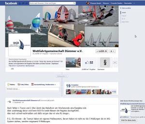 Facebook Fanpage der Wettfahrtgemeinschaft Dümmer e.V.