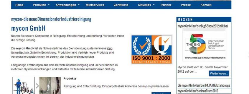 mycon-GmbH Startseite