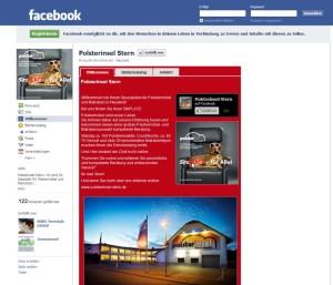 Facebook Fanpage der Polsterinsel Stern in Neuwied