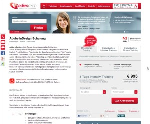 Detailseite Website medienreich Computrtrainings