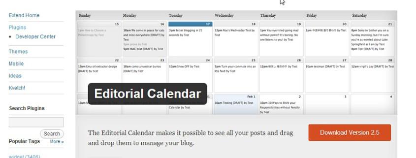Editorial Calendar « WordPress Plugins