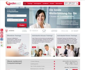Neue Website medienreich Computertrainings