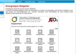 SHK-Website-Angebot Energiespar-Ratgeber
