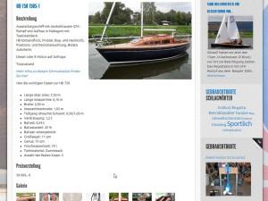 Gebrauchtbootmarkt Detailseite mit HD 750