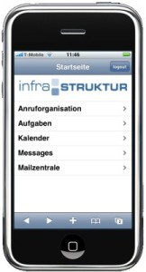 infra-struktur in der mobilen Version für das iPhone