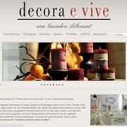 Decora e vive - Eine besondere Lebensart - Startseite