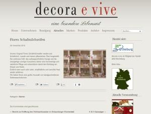 Florex Schafmilchseifen - Decora e vive - Markendarstellung