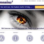 Startseite der Website emagine!MARKETING