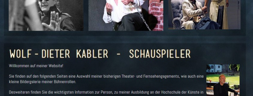 Wolf-Dieter Kabler Schauspieler Startseite