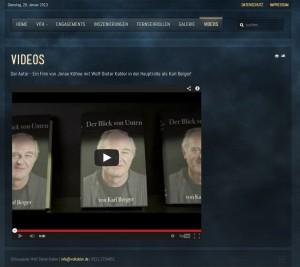 Wolf-Dieter Kabler Schauspieler-Videoeinbindung Einbindung YouTube Video