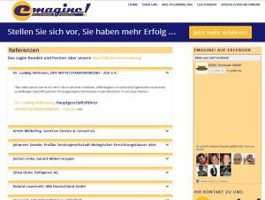emagine! Marketing Toogles zur Visualisierung der Referenzen