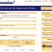Website für emagineMARKETING erstellt