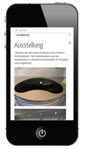 Die neue responsive Website auf dem Smartphone