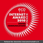 eco Internet Award 2010 in der Kategorie Unified Communications