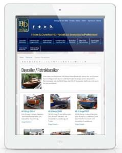 Fricke & Dannhus: responsive Website auf einem Tablet