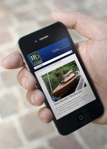 Fricke & Dannhus: responsive Website auf dem Smartphone