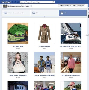 Facebook Fanpage Modehaus Clemens Plate Alben