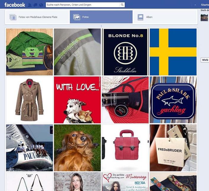 Facebook Fanpage Modehaus Clemens Plate: Bildergalerie