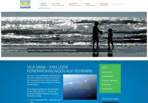 Website Ferienwohnungen Vila Sana in Burg auf Fehmarn
