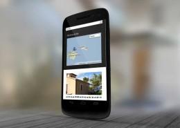 Finca Vista del mar Responsive Webdesign auf Smartphone