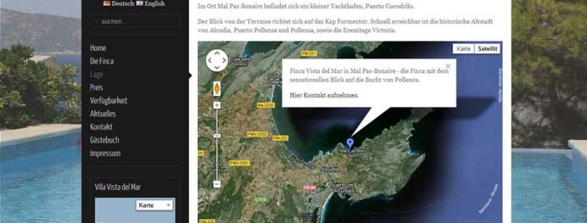 Finca Vista del Mar Website Google Maps