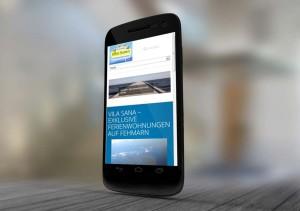 Responsive Ausrichtung der Website der Vila Sana Ferienwohnungen