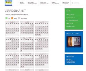 Vila-Sana Ferienwohnungen -Verfügbarkeitskalender