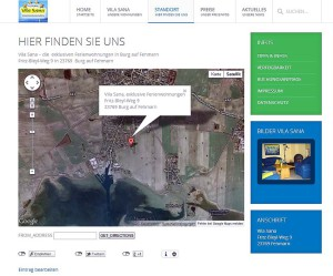 Vila Sana Ferienwohnungen - Anfahrt mit Google Maps