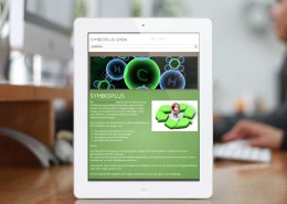 Symbioplus responsives Websitelayout