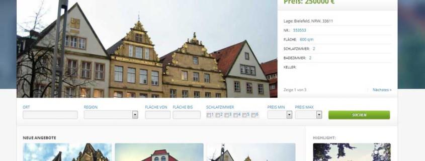 Immobilien Musterseite - Startseite