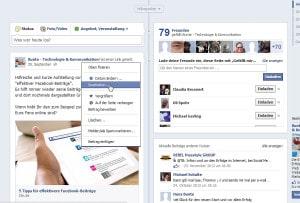 Facebook Bearbeitn Funktion (Aufruf)