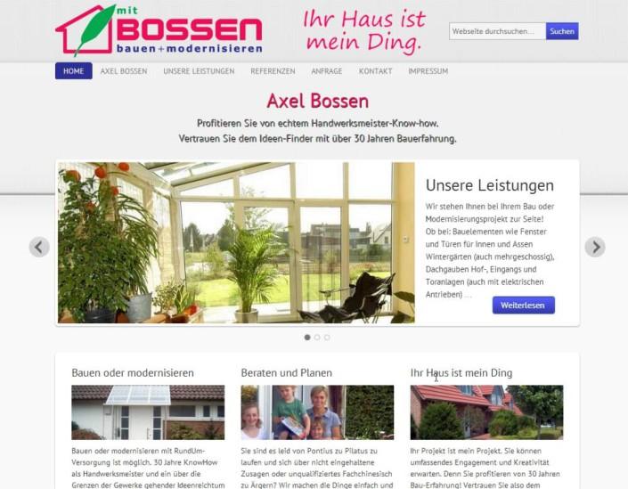 Axel Bossen Website Startseite