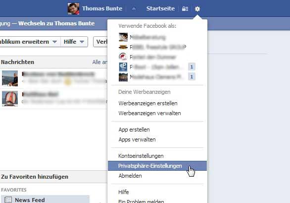 Facebook-Sicherheit-einstie