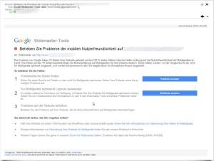 Meldung von Google in den Webmaster-Tools