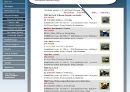 Fahrzeug Bestand auf alter Website in Iframe Darstellung