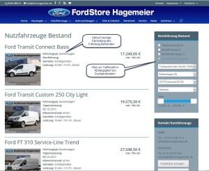 Ford Hagemeier Darstellung Fahrzeugbestand Neu