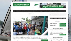 Das Testobjekt, die Website des SCD