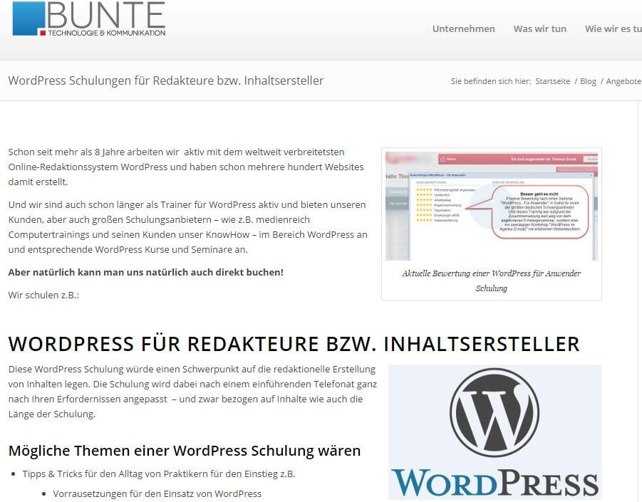 Schulungen Für Wordpress Durch Erfahrene Profis Alle Infos