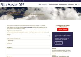FilterMaster DPF Detailseite Kontakt