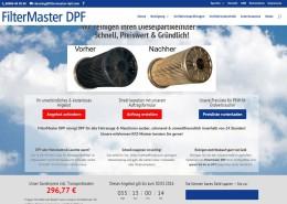 FilterMaster DPF Landingpage