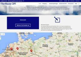 FilterMaster DPF Startseite mit Google Maps Einbindung