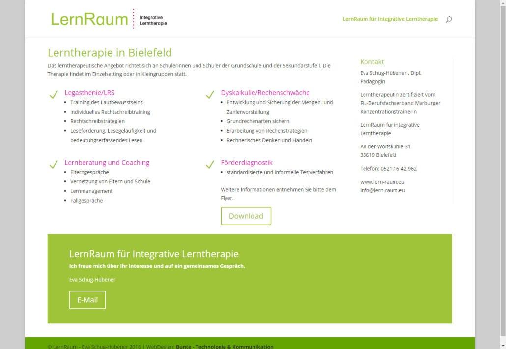 Responsive Mini Website Mit Wordpress Für Lernraum Bielefeld