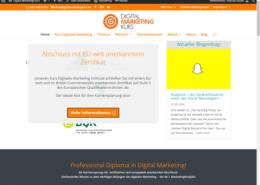 Startseite mit Slider und Blog-Info