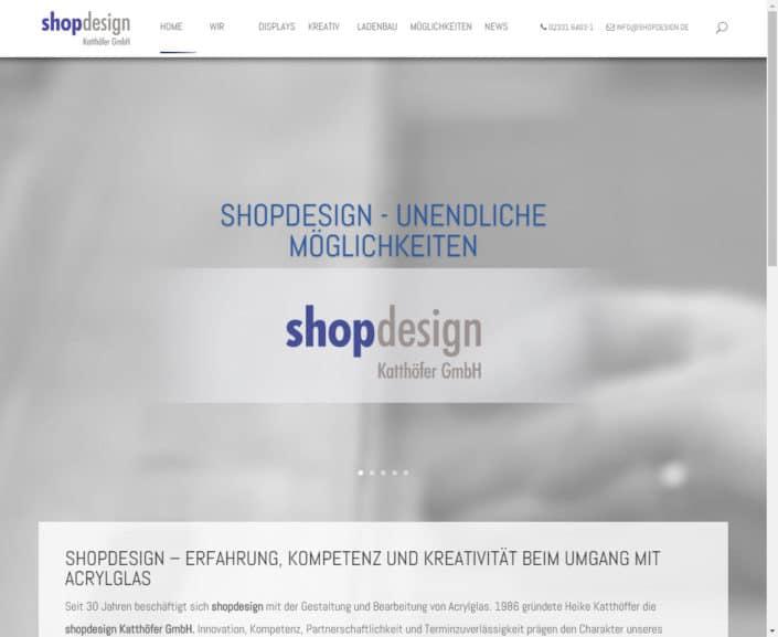 shopdesign StartSeite